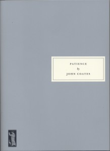 Patience by John Coates book cover
